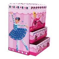 Originality EVA Sticker Diy educational toys Girl birthday gift little princess jewelry box makeup mirror
