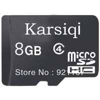 Free shipping! Brand new Karsiqi 8G Class4 Micro SDHC (TF) memory card with USB Card Reader