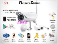 H.264 Long Range outdoor 3G sim card inside IR IP camera 3G video surveillance IP camera S732