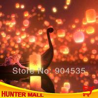 Free shipping 30pcs/lot Cylinder chinese Sky Lantern Mixed Color  wishing balloon Ufo light sky lamp New