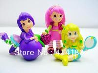 New STRAWBERRY SHORTCAKE Set of 7 Action Figure Toys  children toys pvc toys 10sets/lot Free Shipping