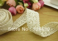 Free shipping- 20 metres 25cm exquisite laciness water soluble cotton embroidery lace Trim Ribbon DIY garment accessories