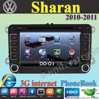 "7"" Car DVD Player Radio autoradio GPS navigation Car Stereo For volkswagen Sharan 2010 2011 + 3G internet + Free  map"