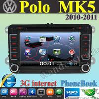 "7"" Car DVD Player Radio autoradio GPS navigation Car Stereo For volkswagen POLO MK5  2010-2011 + 3G internet + Free  map"