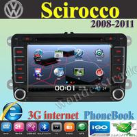 "7"" Car DVD Player Radio autoradio GPS navigation Car Stereo For volkswagen Scirocco  2008-2011 + 3G internet + Free  map"
