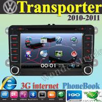 Car DVD Player Radio autoradio GPS navigation Car Stereo  volkswagen Transporter  2010  2011 + 3G internet + Free  map