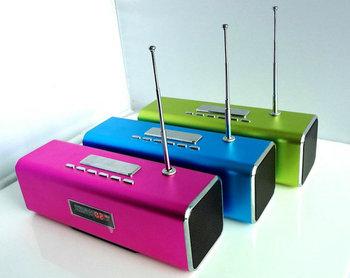Free DHL 20pcs TT2 Portable mini speaker support U-Disk/TF card/Computer/MP3 Micro SD speaker with FM
