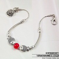 National trend tibetan miao silver personalized bracelet diy handmade accessories Free shipping