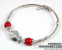 Silver jewelry bracelet handmade vintage fashion silver tibetan miao silver opening bracelet 5009