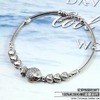 Silver jewelry bracelet handmade vintage fashion silver tibetan miao silver opening bracelet