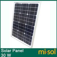 30w solar panel for 12V system,monocrystalline, photovoltaic panel, solar module