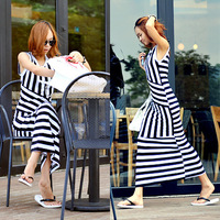 2013 New arrival dress    8858 stripe full    Summer dresses
