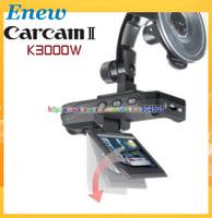 FREE SHIPPING by HK POST Full HD1080P night vision car camera black box K3000 car dvr, Carcam II K3000 Portable Car Camcorder