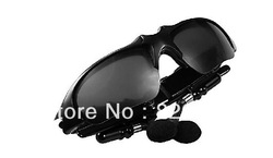 Wholesales Free shipping Music player Headphone Sunglasses Headset Mp3 Bluetooth phone talk-Sunglass sports Sun Glass 10pcs/lot(China (Mainland))