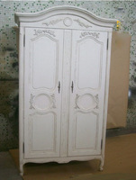 Accentwardrobe /antique cabinet/Accent cabinet/White color cabinet/Carved cabinet