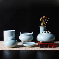 Longquan celadon ceramic antique 7 set japanese style indian incense