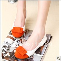 Spring/summer 2013 collection for women's shoes color matching bowknot  edition ladies comfortable flat shoes, single shoes