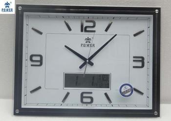 Overlooks calendar multifunctional wall clock thermometer clock capitales Large quartz clock