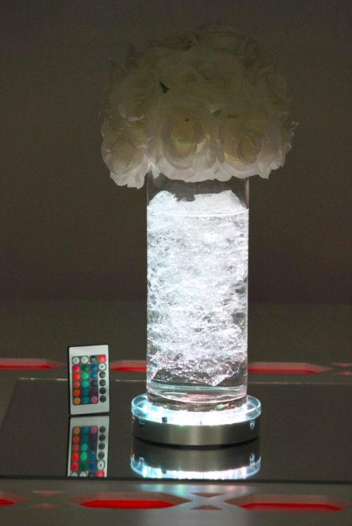 e luminator led lighted base 4 for flower vases battery