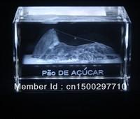 New creative Wholesale 5*5*8cm 3D laser engraved Crystal image famouse building model souvenir gift  home decoration