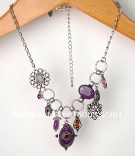 Min.order is $15 (mix order) Fashion jewelries,purple color matching,natural stones with diamond water drops(China (Mainland))