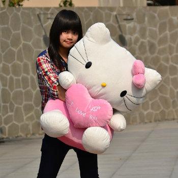 Free shipping new High Quality Big hello kitty stuffed animal the Hello Kitty 75CM plush toy doll birthday gift