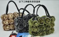 Han edition beaver rabbit skin free shipping the new fashion handbag