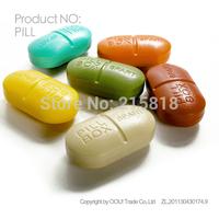 Oou kit portable pillbox 6 small pill box