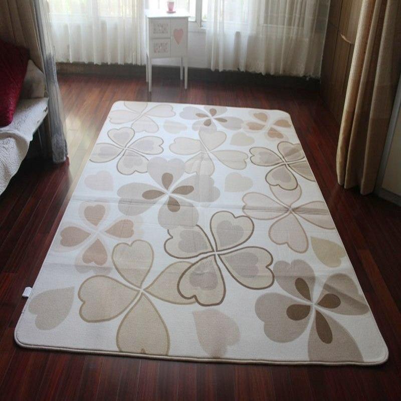 Velvet bedroom carpet table mats beige four leaf grass 2 2 5 meters صور سجاد تصاميم و الوان حديثة سجاد مودرن