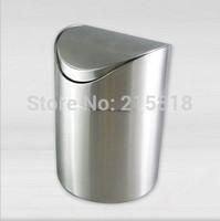 Stainless steel rubbish bucket desktop garbage bucket garbage bucket steel fashion tube waste basket