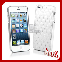 Free Shipping!Quilted Bling Diamond Cases for iphone 5