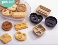 Min Order $20 (mixed order) Fondant tools 4pcs/set classic cookises cookie mold sugar cake mould diy tool (XP)