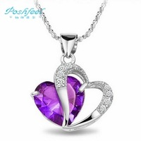 "Wholesale jewelry ""Poshfeel"" brand  high quality pure 925 sterling silver & zircon crystal & platinum plated  pendants"