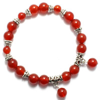 Red accessories red agate bracelet Women
