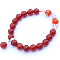 Natural red agate bracelet Women apotropaic