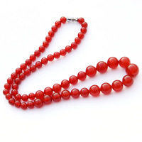 Natural red agate necklace red agate beads necklace women's necklace nice