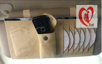 Free shipping Car CD DVD Disk Card Visor Case Holder Clip Box Bag Clipper Colorful car tissue boxes