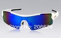 latest style OREKA WG003 Unisex TR90 Frame Gray PC Lens Cycling Sunglasses (Blue)+free shipping
