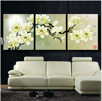 Free shipping Counted Cross Stitch  3D Solid Triplet Flower Tree