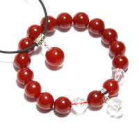 Natural red agate bracelet pendant