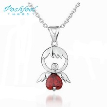 "Wholesale jewelry ""Poshfeel"" brand 100% genuine ladies 925 silver & AAA  swiss crystal & platinum plated pendants Cupid  baby"