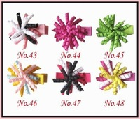 free shipping 50pcs 1.5&amp;quot; korker hair bows (SEW ones) korker hair clips boutique corker hair clips