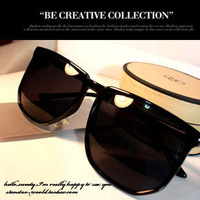 (Min order  $10) 2013 non-mainstream sunglasses mirror driver big frame glasses male Women