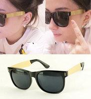 (Min order  $10) Fashion gold star van sunglasses bars rivet riskier sunglasses 11