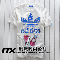 Shampooers clot shoes men's short-sleeve T-shirt male hip-hop bboy clothes t shirt