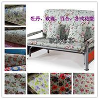 100% cotton canvas fabric lily peony rose big flower pillow cushion sofa