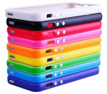 Wholesale 10pcs Lot Black TPU Soft Frame Bumper Skin Case Cover for iPhone 5 5g