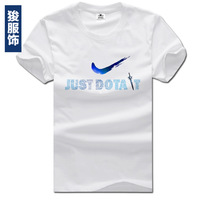 Dota t-shirt male short-sleeve t-shirt o-neck cotton loose summer 100% male