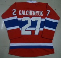 Free shipping ice hockey #27 ALEX GALCHENYUK 27 premier red color home style cheap Jersey jerseys hot sale gift size:M-XXXL
