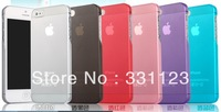 For iPhone 5 Matte Case, 0.5mm Ultra Thin Slim Frosted Transparent Cover Case For iPhone 5G Wholesale Free Shipping 50pcs/lot